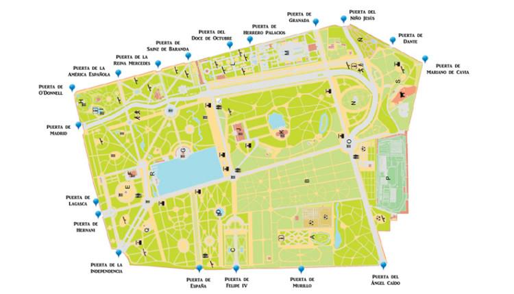 Plano Parque Del Retiro Mapa.Puertas De El Retiro Descubriendo Mayrit