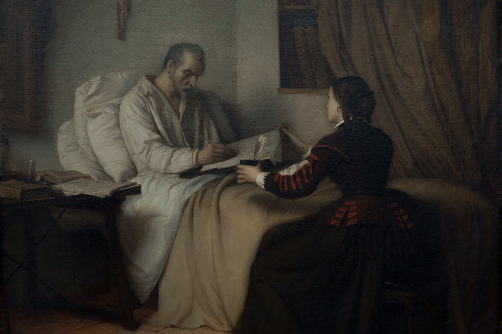 Ultimos momentos de Cervantes - Descubriendo Mayrit