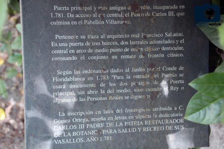 Puerta Real del Jardín Botánico - Descubriendo Mayrit